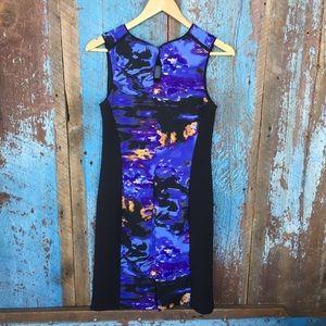 Cynthia Rowley Dresses - Cynthia Rowley Black Watercolor Panel Sheath Dress